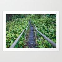 Paths of Green  Art Print