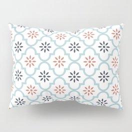 Red & Blue Mute Lattice Pillow Sham