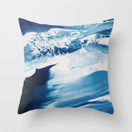 It Comes In Waves II Throw Pillow