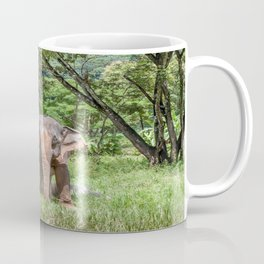 Asian Elephant in the Field, Thailand Coffee Mug