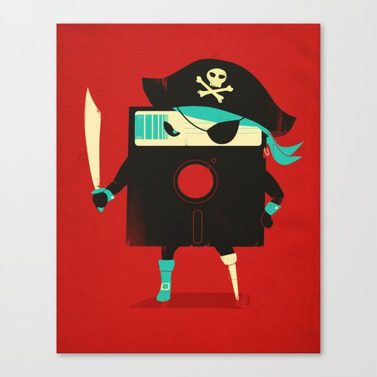 Software Pirate Canvas Print