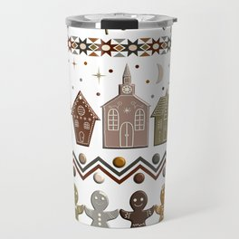 Gingerbread Row Dance in Snow White Travel Mug
