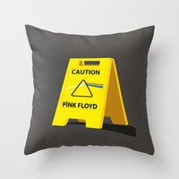 floyd Throw Pillows featuring Pink Floyd by gunberk