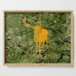 Deer on Green Camo Serving Tray