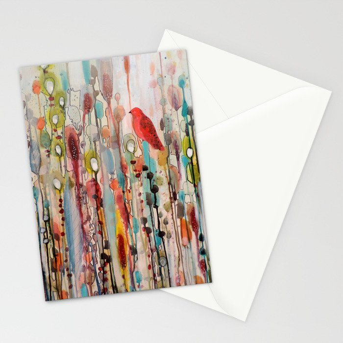 la vie comme un passage Stationery Cards
