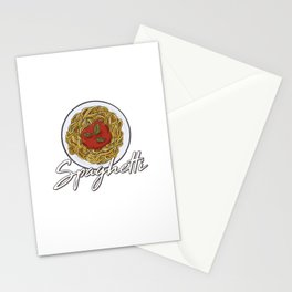 Just A Girl Who Loves Spaghetti Motive for a Spaghetti Lover Stationery Cards