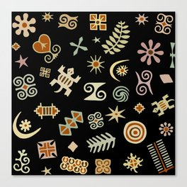 African Adinkra Symbols Canvas Print