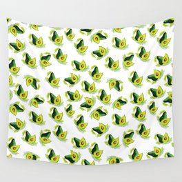 Green Avocado Pattern Wall Tapestry