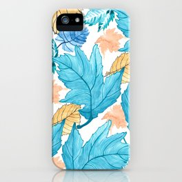 Leaf pattern 2 iPhone Case