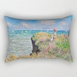 Claude Monet Cliff Walk At Pourville 1882 Rectangular Pillow