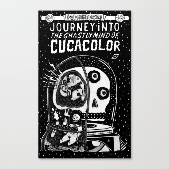 journey in to the ghastly mind of cucacolor Canvas Print