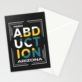 ABDUCTION | UFO Art Stationery Cards
