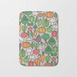 Farm veggies Bath Mat
