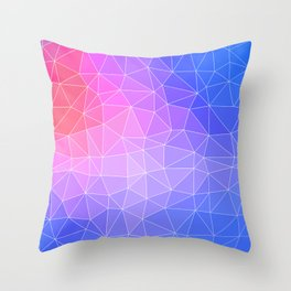 Abstract Colorful Flashy Geometric Triangulate Design Throw Pillow