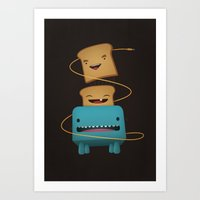 good morning Art Prints featuring Good Morning by mrbiscuit
