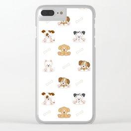 Puppy Dog Baby Nursery Wall Art Clear iPhone Case