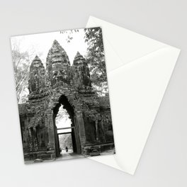Mysterious buddhist khmer history in Cambodia Stationery Cards