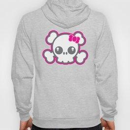 Kawaii Pink Ribbon Skull Hoody
