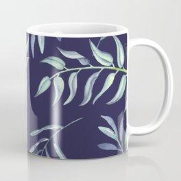 Floating Leaves Blue 2 #society6 #buyart Coffee Mug