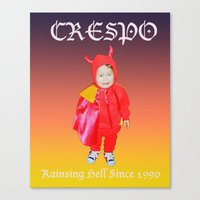 tina crespo Canvas Prints featuring Crespo by W.R. Buhler