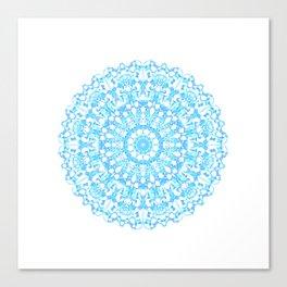 Mandala 12 / 3 eden spirit light blue turquoise white Canvas Print