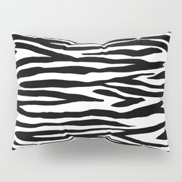 Zebra StripesPattern Black And White Pillow Sham