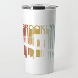 Brooklyn Bridge New York Retro Vintage Urban Architecure Bayridge Travel Mug