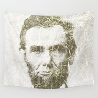 lincoln Wall Tapestries featuring Abraham Lincoln by Sney1