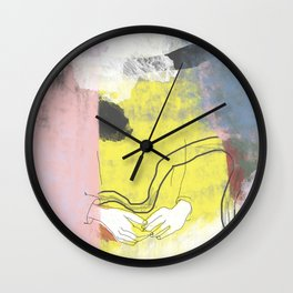 Counting on fingers Wall Clock