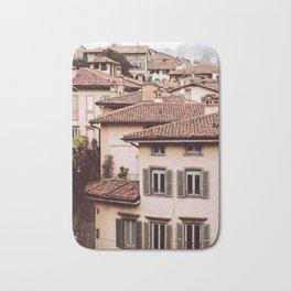 Bergamo rooftops - vertical Bath Mat