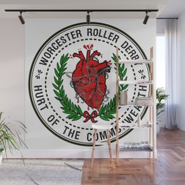 Worcester Roller Derby's Hurt of The Commonwealth Wall Mural