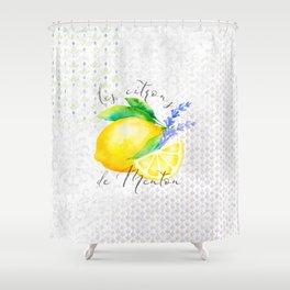 Les Citrons de Menton—Lemons from Menton, Côte d'Azur Shower Curtain