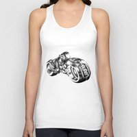 tron Tank Tops featuring tron by liz williams