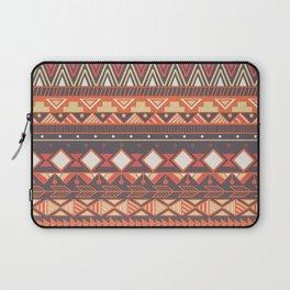 Aztec tribal pattern in stripes, vector illustration Laptop Sleeve