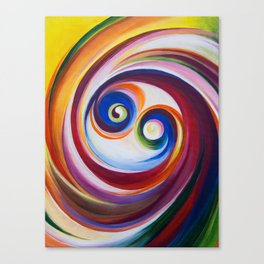 Multicolored spirals Canvas Print