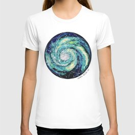 Spiral Galaxy with Seed of Life T-shirt