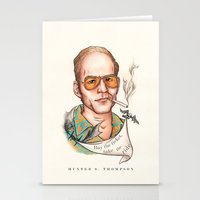 hunter s thompson Stationery Cards featuring Hunter S Thompson - Quote by Sally Ridge