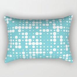 white polka dots Rectangular Pillow