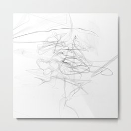 """""""Whatever, Oh Well"""" Black and White Abstract Design Metal Print"""