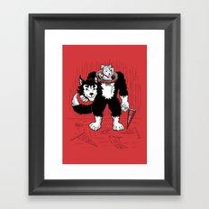 Mascot in Training Framed Art Print