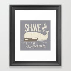 Shave the Whales Framed Art Print