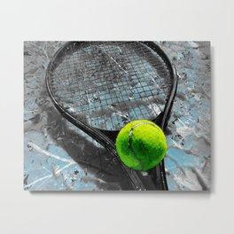Tennis artwork print 21 - Tennis art poster wall art Metal Print