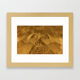Dragón emplumado Framed Art Print