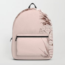 Rose Gold Pineapple on Blush Pink Backpack