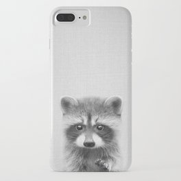 Raccoon - Black & White iPhone Case
