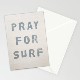 Pray For Surf (Linen) Stationery Cards