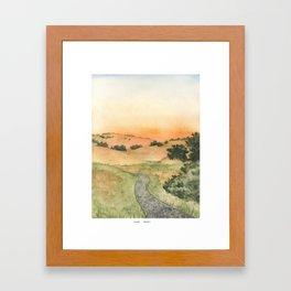 Sonoma: Crane Creek Framed Art Print