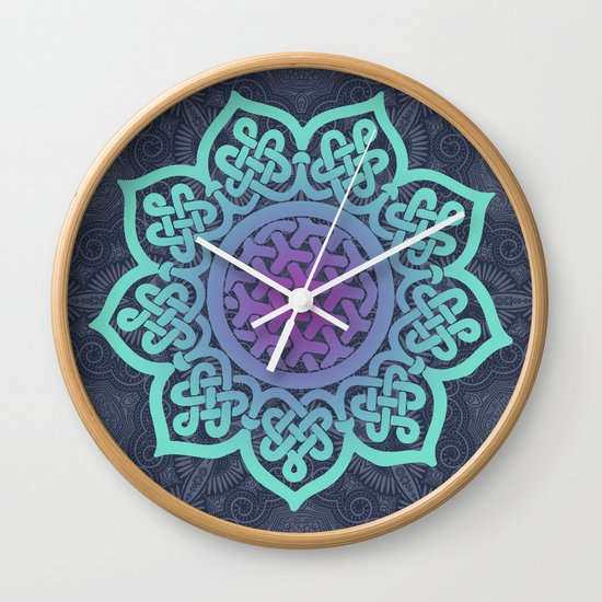 Mandala Blue Wall Clock by OHH Baby