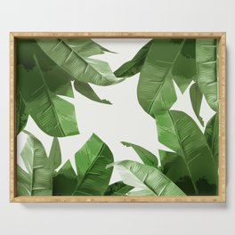 Tropical Palm Print Treetop Greenery Serving Tray