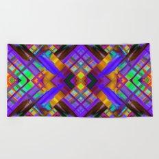 Colorful digital art splashing G480 Beach Towel